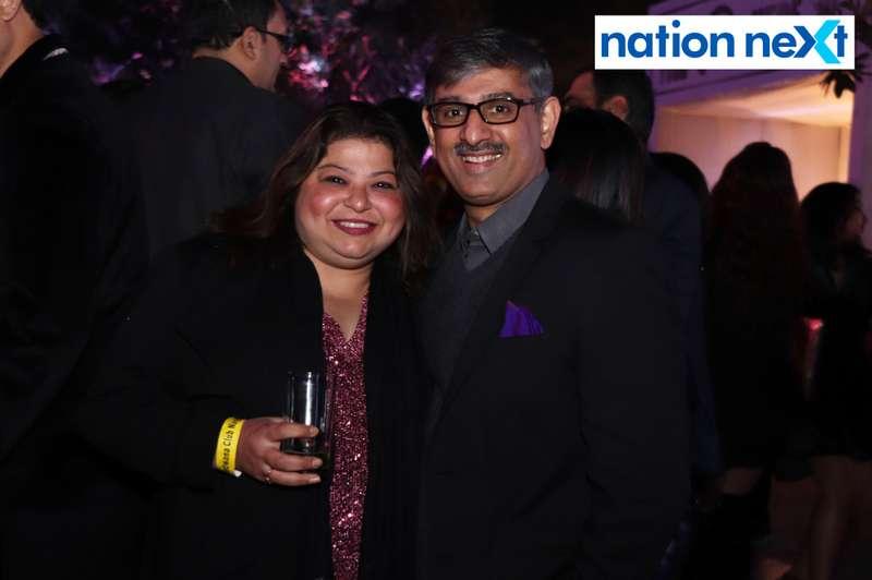 Vidhi and Saket Daga during the 2019 New Year bash held at Gondwana Club in Nagpur