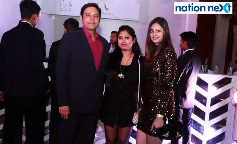 Vikrant Shandilya (Editor-In-Chief, Nation Next), Radhika Dhawad and Gursshheen Gahllen during the 2019 New Year bash held at Gondwana Club in Nagpur