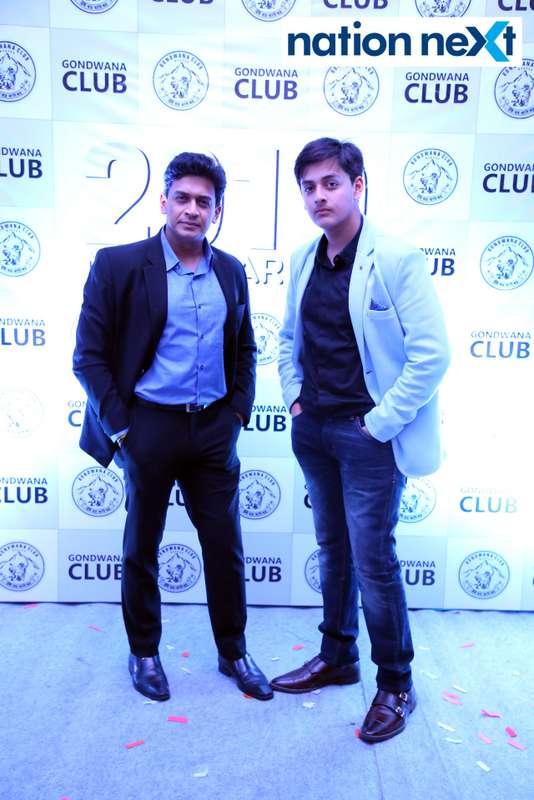 Vinay Dharmadhikari with his son during the 2019 New Year bash held at Gondwana Club in Nagpur