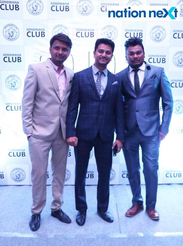 Ziya Haq, Om Singh and Gaurav Chatole during the 2019 New Year bash held at Gondwana Club in Nagpur