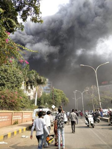 A major fire broke out in an under-construction hospital near Kingsway Hospital in Nagpur on Wednesday afternoon. All trapped workers evacuated safely.