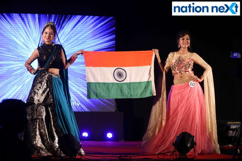 Models walk the ramp during IFT Fashion Carnival held in Nagpur