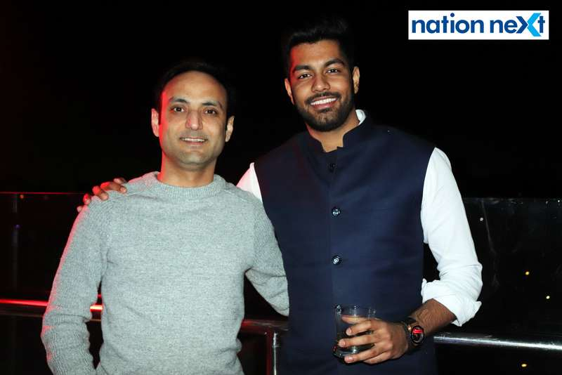 Ashish Ahuja and Aryaman Grover at a party hosted by Prince Tuli at Hotel Tuli Imperial in Nagpur