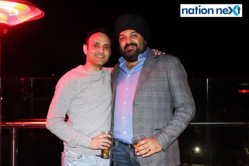 Ashish Ahuja and Harkaran Tuli at a party hosted by Prince Tuli at Hotel Tuli Imperial in Nagpur
