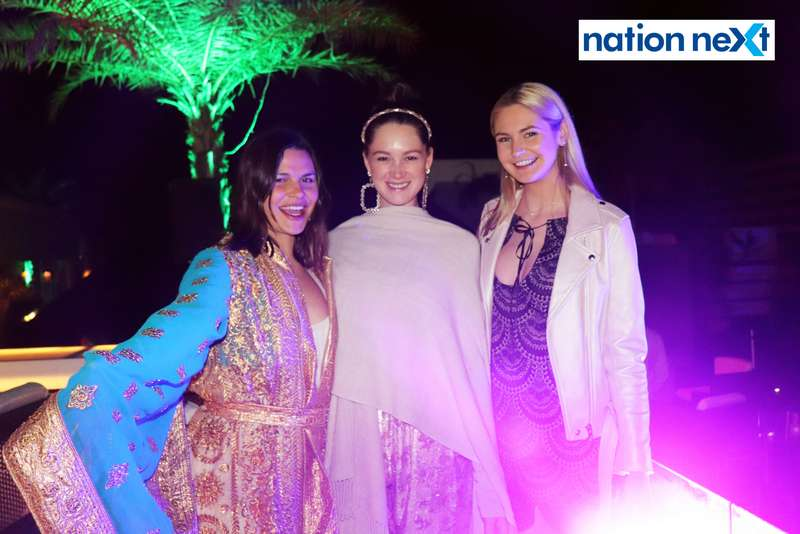 Candice Hooks, Kelly Lyons and Lauren Mahoney at a party hosted by Prince Tuli at Hotel Tuli Imperial in Nagpur
