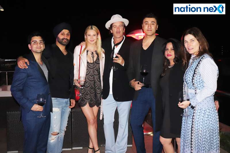 George Valliades, Vikram Tuli, Lauren Mahoney, Robert Novogratz, Prince Tuli, Ritu Chanekar and Courtney Novogratz at a party hosted by Prince Tuli at Hotel Tuli Imperial in Nagpur