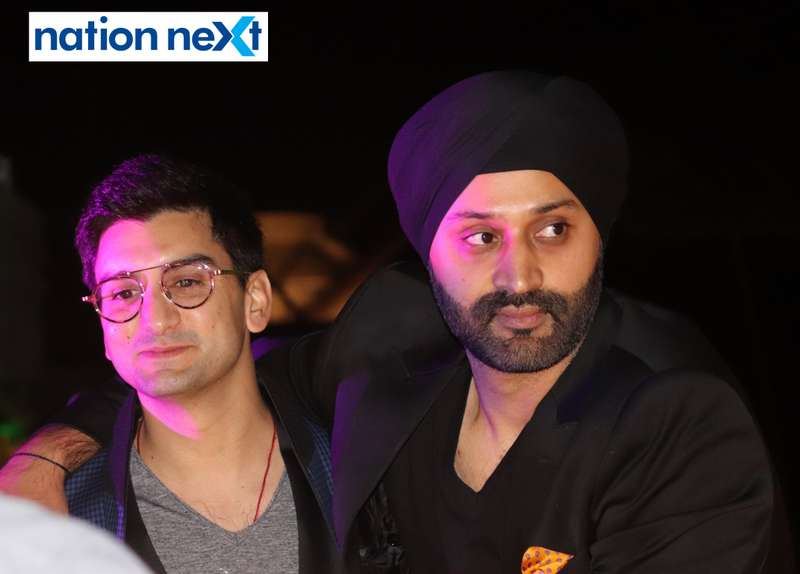 George Valliades and Vikram Tuli at a party hosted by Prince Tuli at Hotel Tuli Imperial in Nagpur