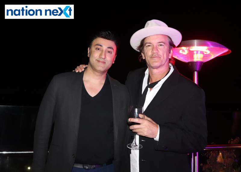 Prince Tuli and Robert Novogratz at a party hosted by Prince Tuli at Hotel Tuli Imperial in Nagpur