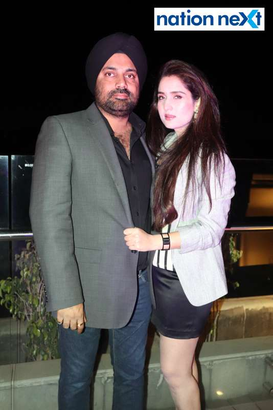 Raja and Punita Tuli at a party hosted by Prince Tuli at Hotel Tuli Imperial in Nagpur