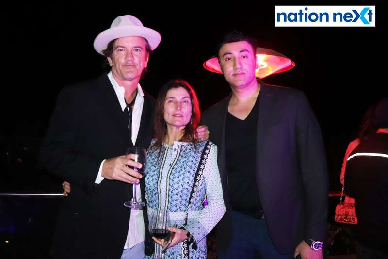 Robert and Cortney Novogratz with Prince Tuli at a party hosted by Prince Tuli at Hotel Tuli Imperial in Nagpur