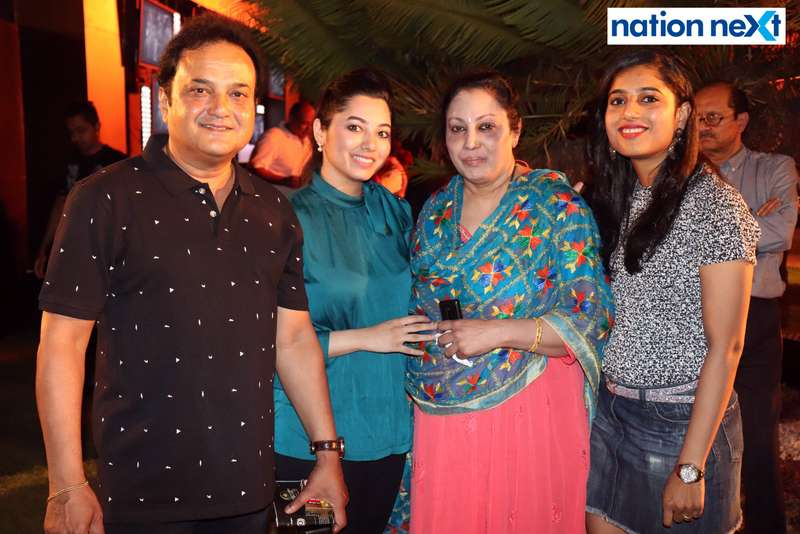 Alok Chaudhari, Yashashree Sawant, Kanchan Sawant and Arundhati Chaudhari at Blenders Pride Magical Nights held at CP Club in Nagpur