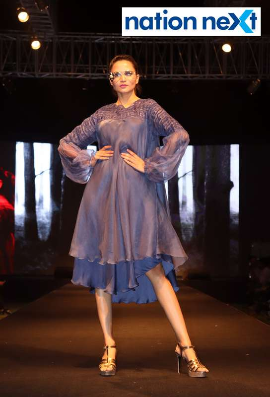 Priya Ninawe walks the ramp at Blenders Pride Magical Nights held at CP Club in Nagpur