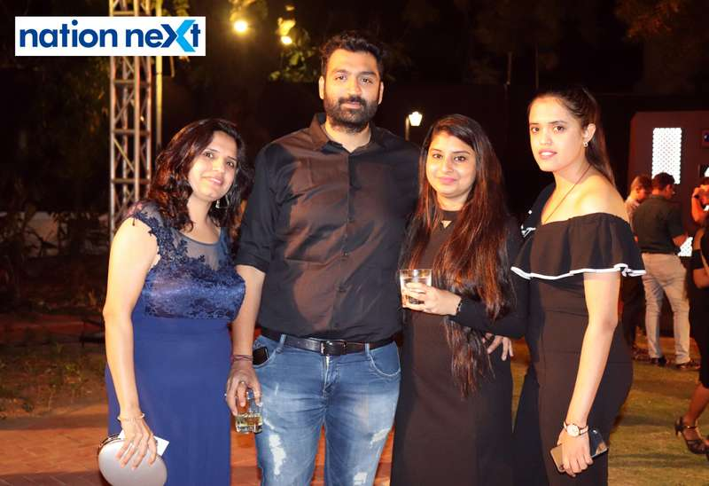 Kanchan, Ajay, Misha and Trupti Chandwani at Blenders Pride Magical Nights held at CP Club in Nagpur