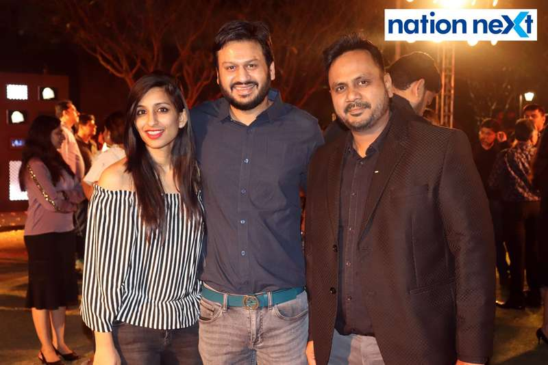 Megha, Saurabh and Kshitiz Agrawal at Blenders Pride Magical Nights held at CP Club in Nagpur