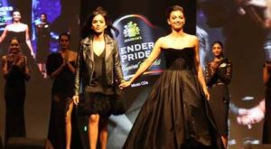 Sultry actress Radhika Apte walked the ramp as the showstopper in a Gauri and Nainika outfit at the Blenders Pride Magical Nights held at CP Club in Nagpur.