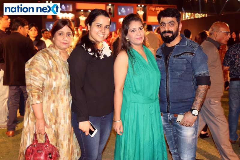 Neelu Malhotra, Asawari Malhotra, Kavita Advani and Girish Advani at Blenders Pride Magical Nights held at CP Club in Nagpur