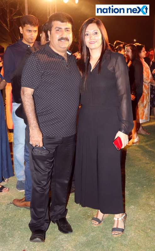 Sunil and Manju Bhatia at Blenders Pride Magical Nights held at CP Club in Nagpur