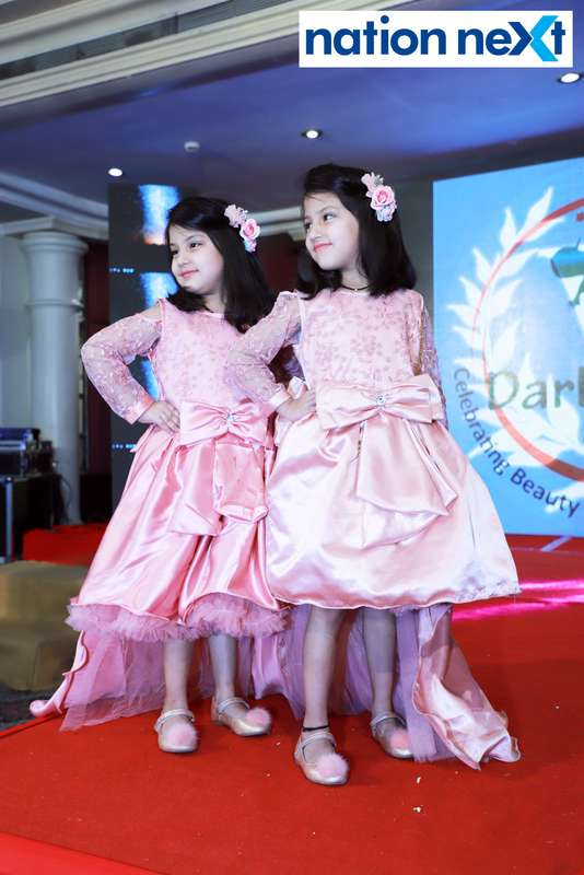 Ishaana and Shanaya Sharma at Darlings of Nagpur contest held at Hotel Tuli Imperial