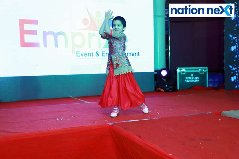 Jivati Khurana during her performance at Darlings of Nagpur contest held at Hotel Tuli Imperial
