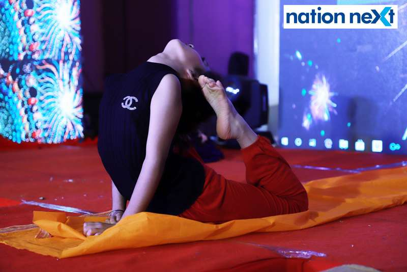 A participant during her performance at Darlings of Nagpur contest held at Hotel Tuli Imperial