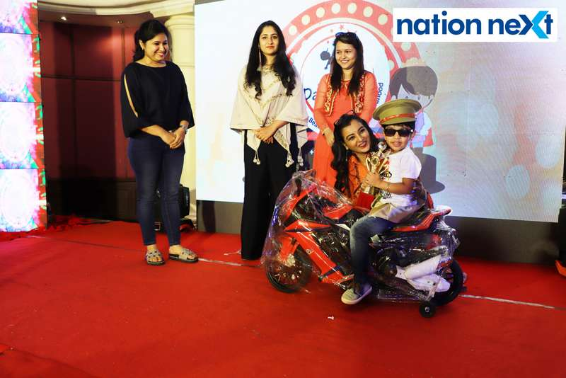 Prince of Nagpur title winner Amardeep Batra with Ekta Bhaiya at Darlings of Nagpur contest held at Hotel Tuli Imperial
