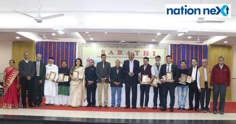 Winners and guests at the 'Scroll of Honour' function organised by SARATHI in Nagpur