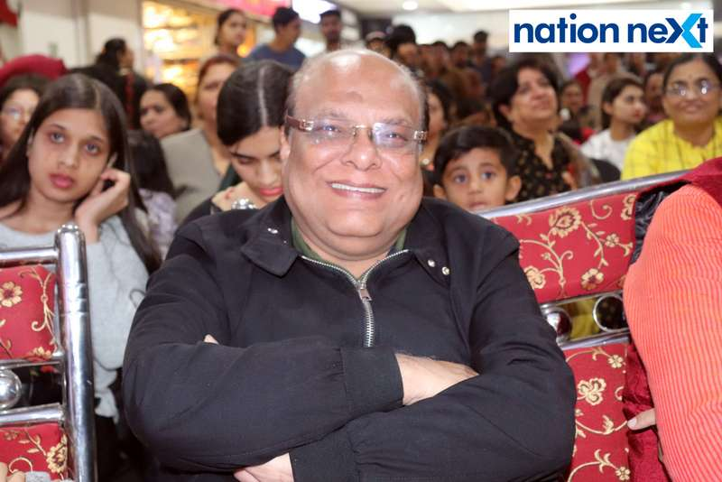 Advocate Hariramani during a fashion show organised at Ginger Square in Nagpur