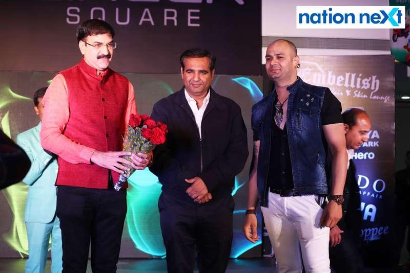 Dr Vinky Rughwani, Virendra Kukreja and Amit Sabnani during a fashion show organised at Ginger Square in Nagpur