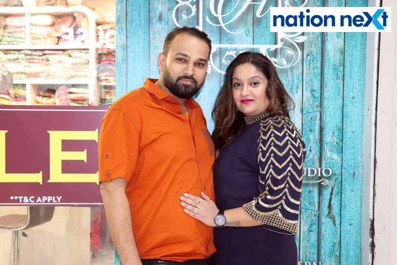 Hardik and Priyanka Kothari during a fashion show organised at Ginger Square in Nagpur