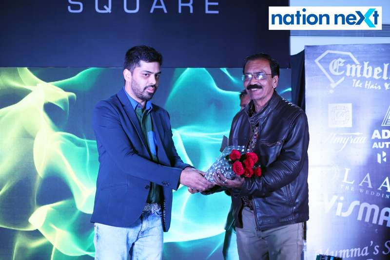 Arshad Seth and Nandu Mansata during a fashion show organised at Ginger Square in Nagpur