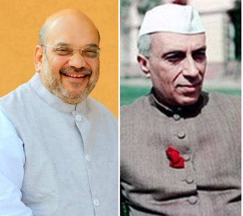 BJP President Amit Shah, blaming former PM Jawaharlal Nehru for Pulwama attack, said that Kashmir issue remained unsolved only because of Nehru.