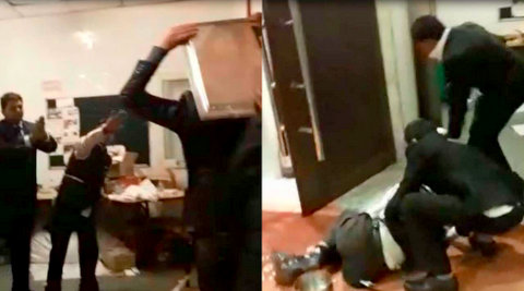 Furious over the quality of food being served at Piccadily Hotel in Janakpuri, New Delhi, wedding guests turned violent and started smashing cutlery.