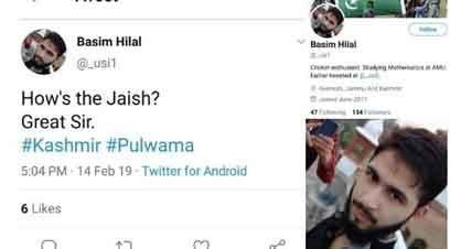 An FIR has been registered against a student of Aligarh Muslim University for mocking Pulwama tragedy, in which at least 40 CRPF jawans were martyred.