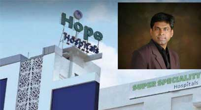 Hope Hospital director Dr BK Murali has accused the manager of Bajaj Finance of threatening Dr Murali, his family members and the hospital staff.