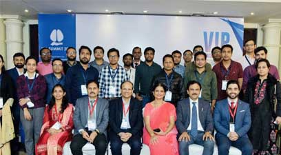 Senior doctors were seen discussing causes and effects of lung cancer at VIP Summit 2019 - a one-day conference organised by KRIMS Hospitals in Nagpur.