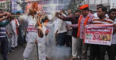 Bajrang Dal to shoot 'indecent acts' of couples on Valentine's Day