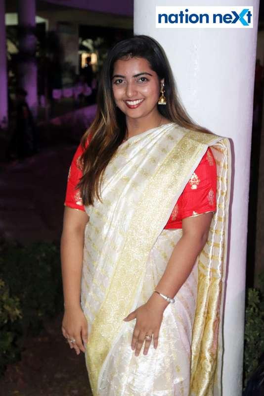 Anushree Bhople during PIET's cultural fest Saptrang 19' in Nagpur