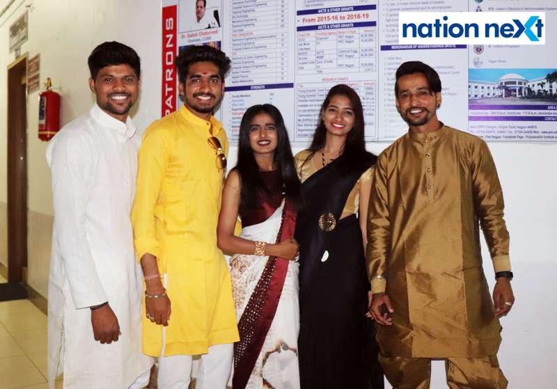 Bhushan Barapatre, Mayur Dibe, Sanika Nagrare, Pratiksha Ghume and Parth Darode during PIET's cultural fest Saptrang 19' in Nagpur