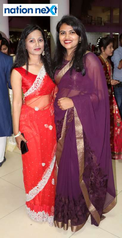 Pratiksha Chawane and Disha Kuralkar during PIET's cultural fest Saptrang 19' in Nagpur