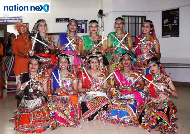 Students all set for their dance performance during PIET's cultural fest Saptrang 19' in Nagpur