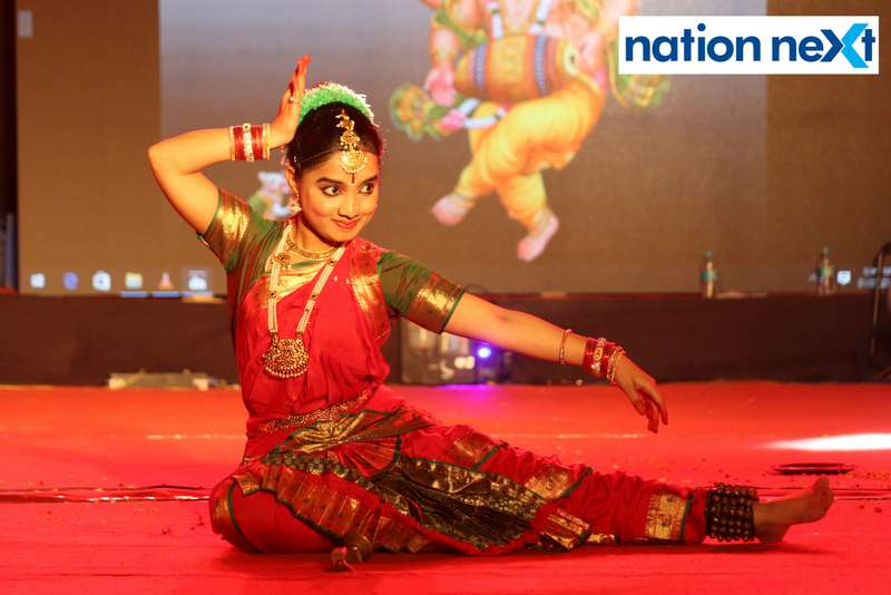 A student during her dance performance at PIET's cultural fest Saptrang 19' in Nagpur