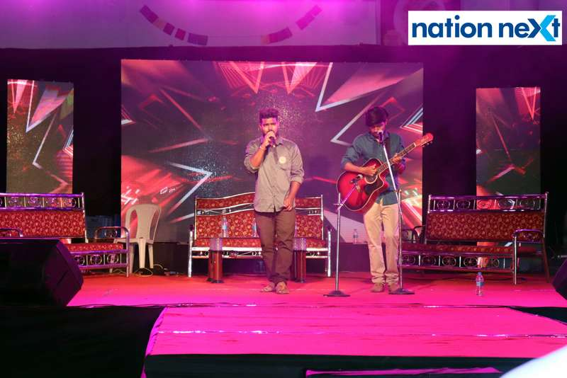 Students during a jamming session during PIET's cultural fest Saptrang 19' in Nagpur