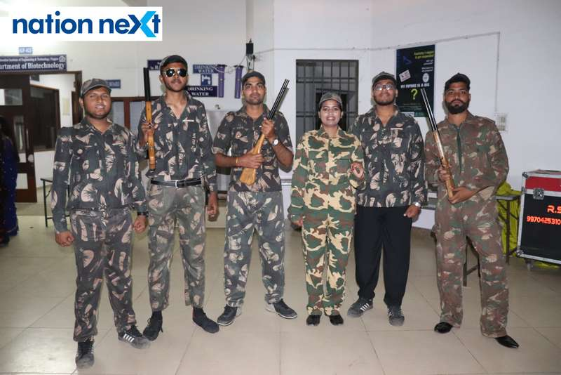 Students dressed as soldiers during PIET's cultural fest Saptrang 19' in Nagpur