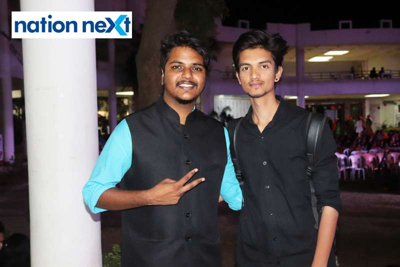 Rajas Vaidya and DJ Arsh during PIET's cultural fest Saptrang 19' in Nagpur