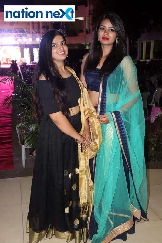 Rakhi Chauhan and Akanksha Parbat during PIET's cultural fest Saptrang 19' in Nagpur