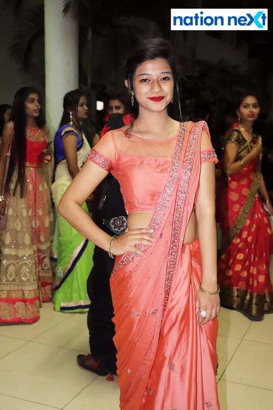 Riya Dhabarde during PIET's cultural fest Saptrang 19' in Nagpur