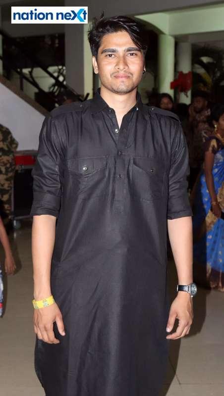 Shubham Kuthe during PIET's cultural fest Saptrang 19' in Nagpur