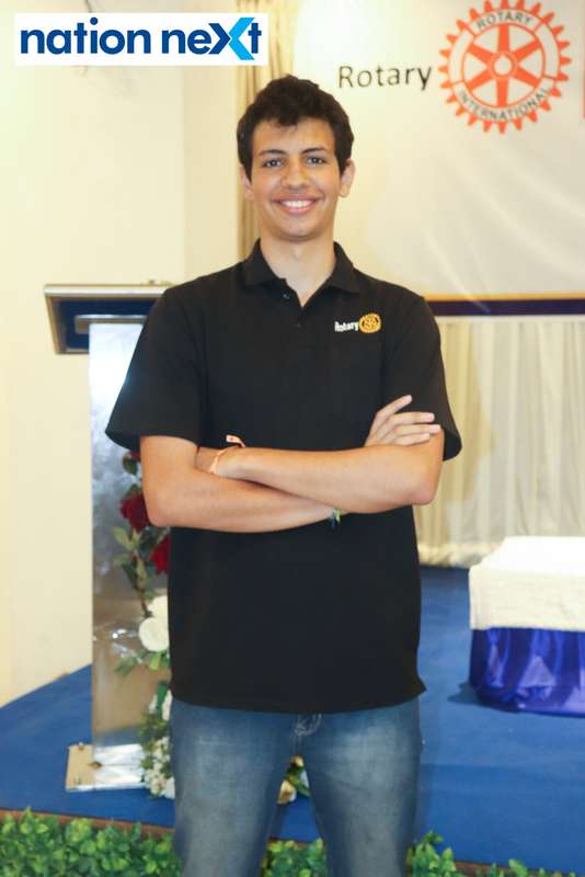 David Pearl Panero at the farewell function of Rotary Youth Exchange students held in Nagpur