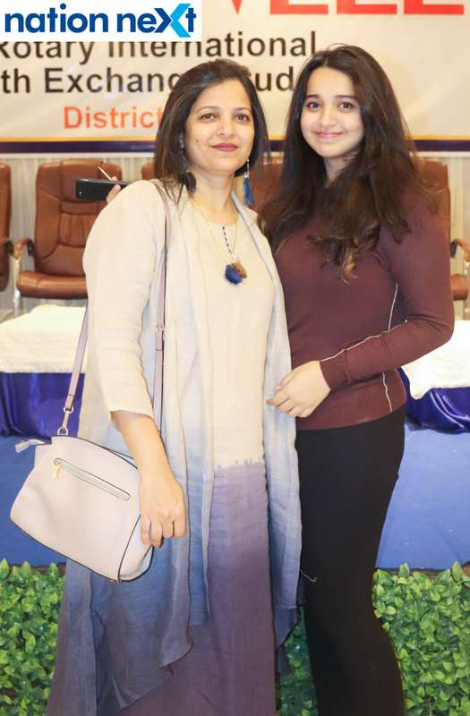 Dr Namrata and Dr Aryanka Rathod at the farewell function of Rotary Youth Exchange students held in Nagpur