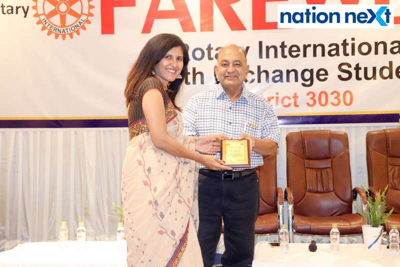 Dr Shantala Bhole and Dr Prafull Mokadam at the farewell function of Rotary Youth Exchange students held in Nagpur